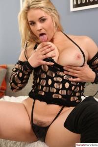 Sarah Vandella strips naked at sarahvandella.com
