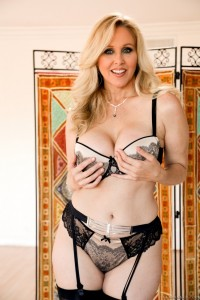Porn star cock sucker Julia Ann in nasty POV style blow job scene at lewood.com