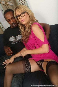 Lusty Desi Dalton gets worked over by a big black cock at watchingmymomgoblack.com