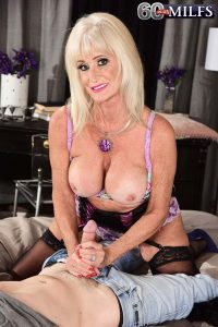 Sixty four year old Leah L'Amour makes her hardcore debut at 60plusmilfs.com