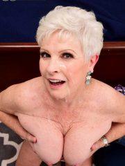 Granny porn star Jewel gets covered in cum at 60PlusMILFs.Com