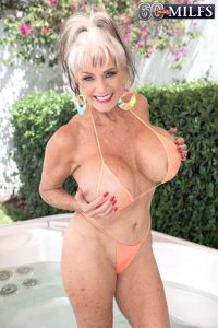 Busty senior sex star Sally D'Angelo is back in the members area of 60PlusMILFs.Com