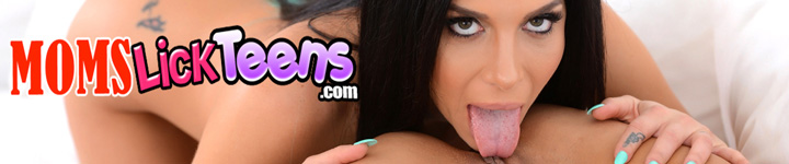 Porn star Jaclyn Taylor puts her horny tongue to good use at momslickteens.com