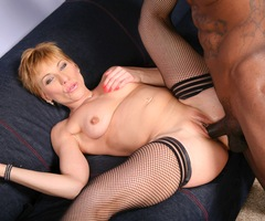 Lusty cougar Gemma Moore has a gorgeous body and loves big black cock