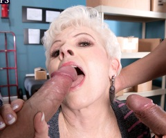 Lusty granny Jewel is a super sexy senior porn star
