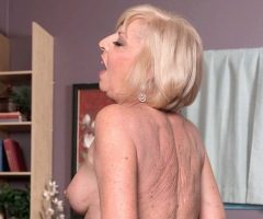 Horny granny Scarlet Andrews fucks a young stud at 60PlusMILFs.Com