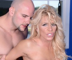 Gina West takes a hot cum-load at bigtitsboss.com
