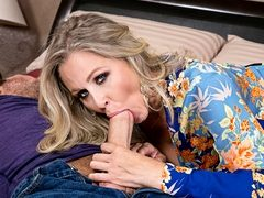 MILF porn star Julia Ann is back for some cock sucking and ass fucking fun