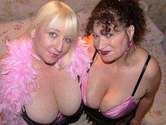 Kinky UK MILF Kim disciplines her horny girlfriend at kims-amateurs.com
