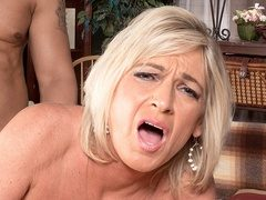 Horny MILF newcomer Brandi Jaimes takes a big dick up her ass