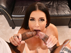Mature porn princess India Sumer works two huge black cock into submission at seducedbyacougar.com