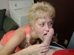 Amateur MILF Tracy Licks sucks a big cock to completion at seemomsuck.com
