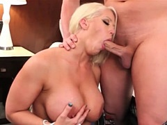 Alura Jenson sucks off porn stud ChristanXXX at her personal website