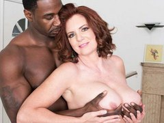 Busty amateur model Andi James takes big black cock at 50plusmilfs.com