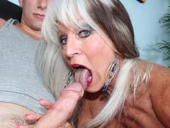 Horny over 60 adult star Sally D'Angelo sucks and fucks at familylust.com